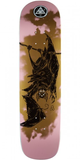 Welcome Infinitely Batty on Yung Nibiru Skateboard Deck - Pink/Gold - 8.25