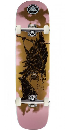 Welcome Infinitely Batty on Yung Nibiru Skateboard Complete - Pink/Gold - 8.25