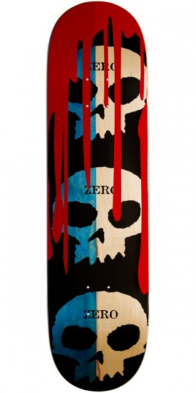 Zero 3 Skull Blood R7 Skateboard Deck - Blue/Natural - 8.125