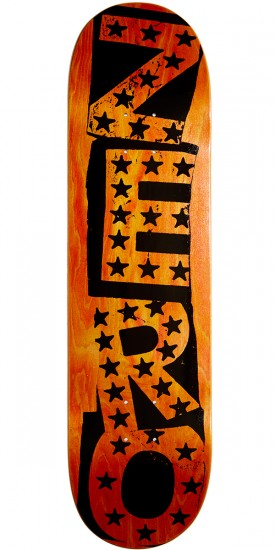 Zero Punk Stars Hybrid Skateboard Deck - Black/Yellow - 8.25