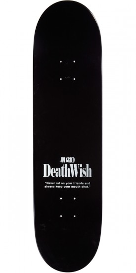 Deathwish Keep Your Mouth Shut Skateboard Deck - Greco - 8.25