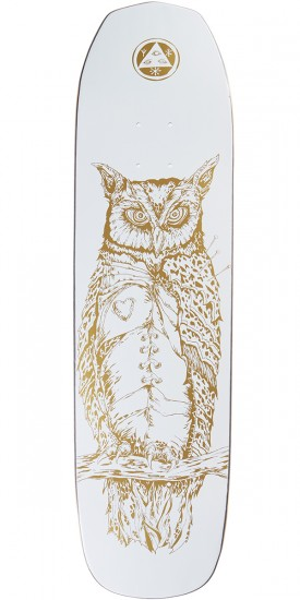 Welcome Heartwise on Vimana Skateboard Deck - White/Gold - 8.25