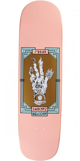 Welcome Philosophers Hand on Nibiru Skateboard Deck - Jordan Sanchez - Coral - 8.75