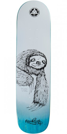 Welcome Sloth on Bunyip Skateboard Deck - White/Black - 8.0
