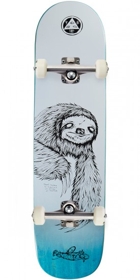 Welcome Sloth on Bunyip Skateboard Complete - White/Black - 8.0