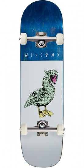 Welcome Gooser on Bunyip Skateboard Complete - White - 8.0