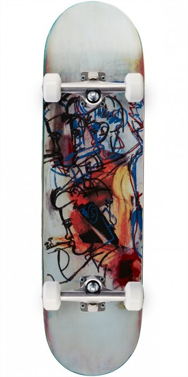 """Blue Greco Screened Guest Skateboard Complete - 8.44"""""""