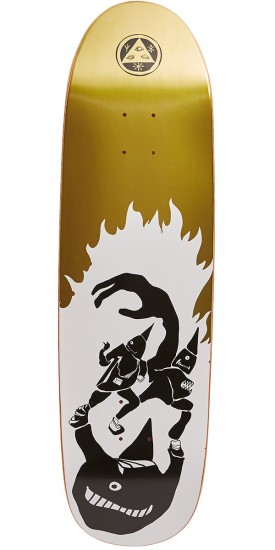 Welcome Creepers on Atheme Skateboard Deck - White/Gold Foil - 8.8