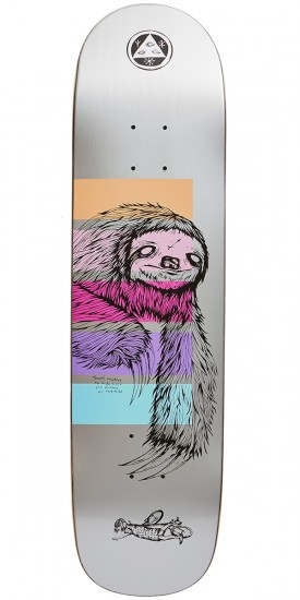 Welcome Sloth on Bunyip Skateboard Deck - Silver - 8.0