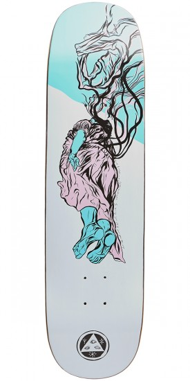Welcome Transcend on Amulet Skateboard Deck - White - 8.125