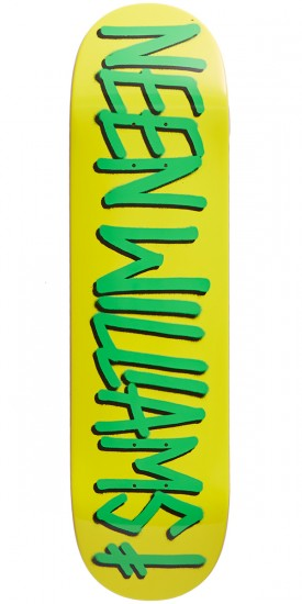 Deathwish Gang Name Skateboard Deck - Neen Williams - Yellow/Green - 8.25