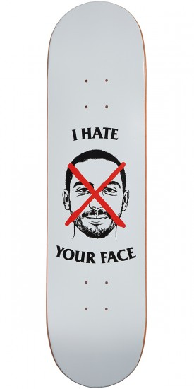 Skate Mental Wieger I Hate Your Face Skateboard Deck - 8.125""