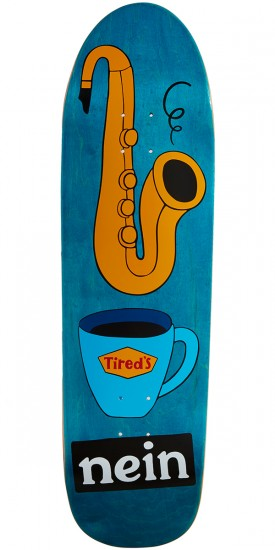 Tired Saxophone On Slick Skateboard Deck - 9.189""