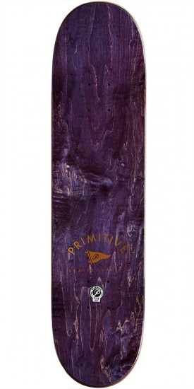 Primitive Team Pennant Black Skateboard Deck - 7.75""