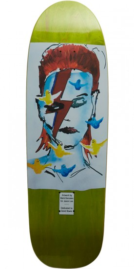 "Prime Wood Gonz Bowie Old School Skateboard Deck - 9.50"" - Light Green"