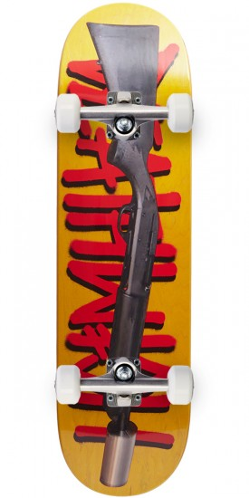 Deathwish Street Sweeper Skateboard Complete - 8.5 - Yellow Stain