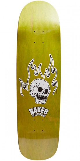 Baker From The Grave Shaped Skateboard Deck - 8.75 - Green Stain