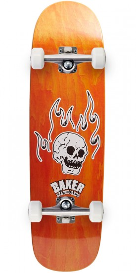 Baker From The Grave Shaped Skateboard Complete - 8.75 - Orange Stain