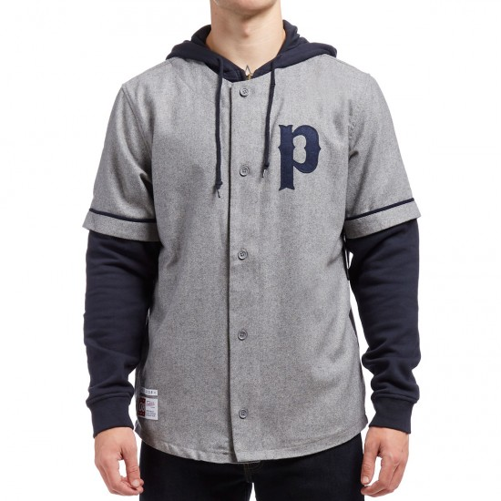 Primitive Two-4-One Baseball Jersey - Grey Heather