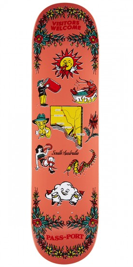 Passport Tea Towels SA Skateboard Deck - 8.00""