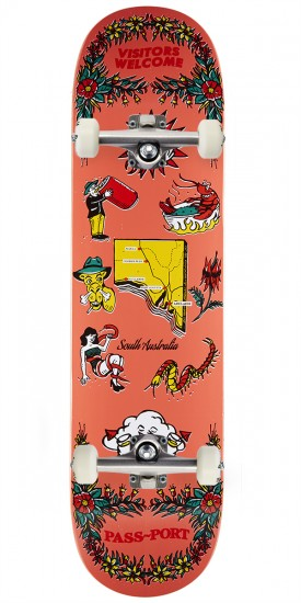 Passport Tea Towels SA Skateboard Complete - 8.00""