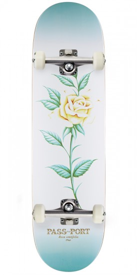 Passport Attractive Floral Rosa Skateboard Complete - 8.50""