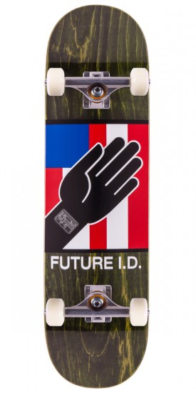 """Alien Workshop By Any Means Future ID Skateboard Complete - Green Stain - 8.5"""""""