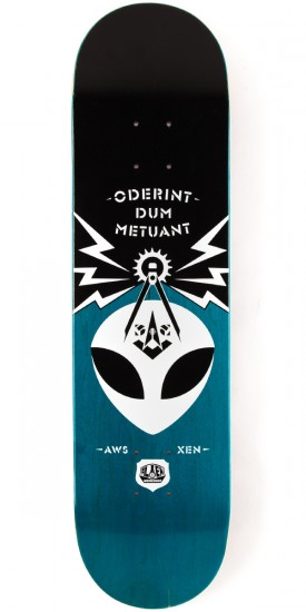 Alien Workshop Ordo Small Skateboard Deck - 8.00 - Teal Stain