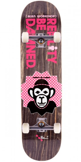 Alien Workshop Reality Be Damned Monkey Skateboard Complete -7.875""