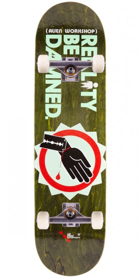 Alien Workshop Reality Be Damned Wrist Slit Skateboard Complete - 8.25""