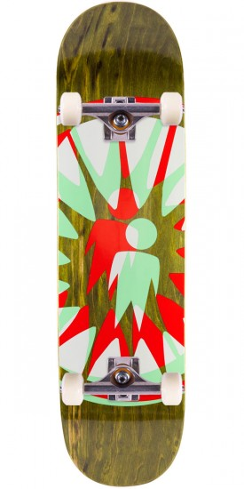 "Alien Workshop Starburst Skateboard Complete - 8.25"" - Green Stain"