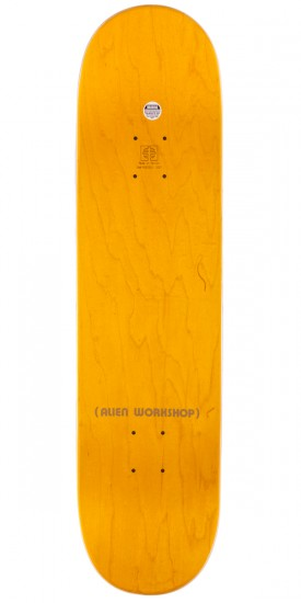 Alien Workshop Visitor Skateboard Complete - Yellow Stain - 8.125""