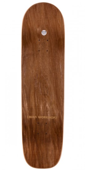 """Alien Workshop Visitor Square Tail Skateboard Complete - Brown Stain - 8.625"""""""
