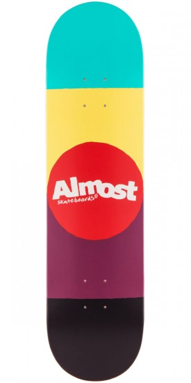 Almost Color Block Skateboard Deck - 8.00""