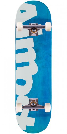 Almost Side Pipe PP Skateboard Complete - Blue - 8.5""