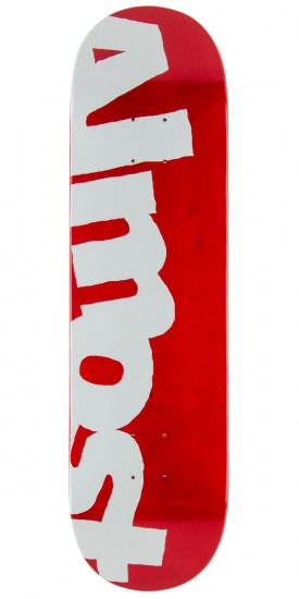 Almost Side Pipe PP Skateboard Deck - Red - 8.25""