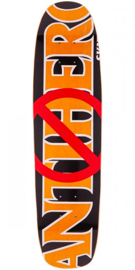 "Anti-Hero Anti Anti Cruiser Skateboard Deck - 7.65"" - Orange Stain"