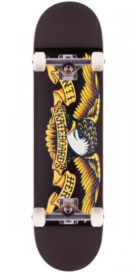 Anti-Hero Classic Eagle Skateboard Complete - Large - Black - 8.12""