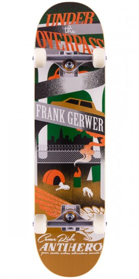 Anti-Hero Frank Gerwer Exotic Adventures Skateboard Complete - 8.06""