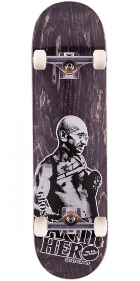 """Anti-Hero Jeff Grosso Pass A-Fist Skateboard Complete - Black Stain - 8.4"""""""