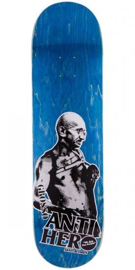 Anti-Hero Jeff Grosso Pass A-Fist Skateboard Deck - Blue Stain - 8.4""