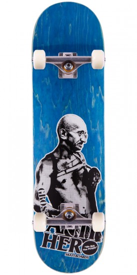 Anti-Hero Jeff Grosso Pass A-Fist Skateboard Complete - Blue Stain - 8.4""