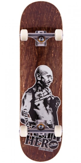 """Anti-Hero Jeff Grosso Pass A-Fist Skateboard Complete - Brown Stain - 8.4"""""""
