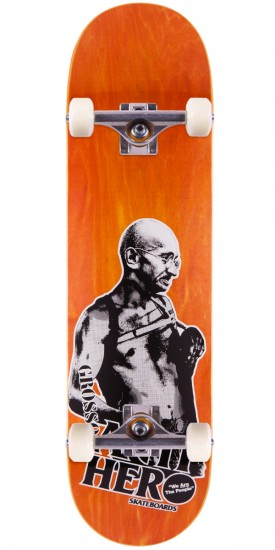 Anti-Hero Jeff Grosso Pass A-Fist Skateboard Complete - Orange Stain - 8.4""