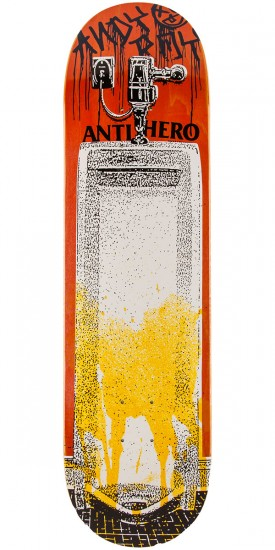 "Anti-Hero Roy Public Urinal Skateboard Deck - 8.40"" - Orange"