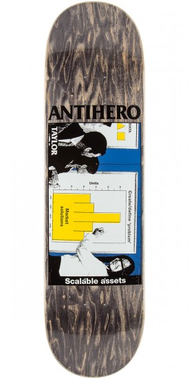 """Anti-Hero Taylor Business as Usual Skateboard Deck - 8.25"""" - Black Stain"""