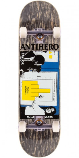 """Anti-Hero Taylor Business as Usual Skateboard Complete - 8.25"""" - Black Stain"""