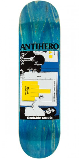 """Anti-Hero Taylor Business as Usual Skateboard Deck - 8.25"""" - Blue Stain"""