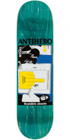 "Anti-Hero Taylor Business as Usual Skateboard Deck - 8.25"" - Teal Stain"