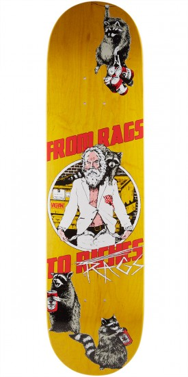 """Vagrant Rags To Rags Skateboard Deck - Yellow Wood Stain - 8.25"""""""